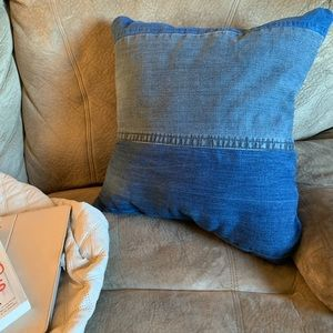 Other - Reclaimed Denim Throw Pillow